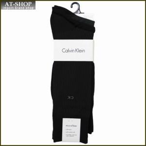 Calvin Klein カルバン・クライン ソックス 3足セット ACY170-color00 ブラック系 at-shop