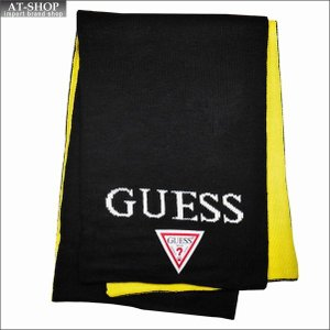 GUESS ゲス マフラー AI4A8851DS-LW ブラック×イエロー|at-shop
