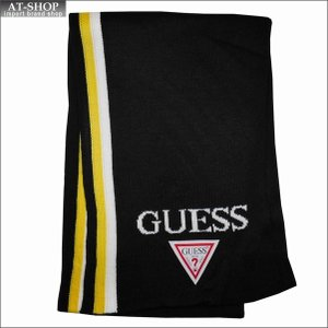 GUESS ゲス マフラー AI4A8853DS-LW ホワイト×イエロー|at-shop
