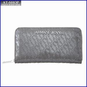 アルマーニジーンズ ARMANI JEANS 05V32 A9 2T ラウンドファスナー長財布 GREY|at-shop
