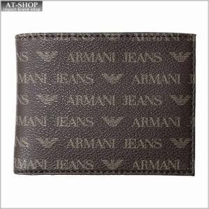 アルマーニジーンズ 財布 ARMANI JEANS 06V57 J4 07 BROWN 二つ折り財布小銭入れ付 at-shop