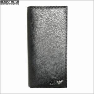 アルマーニジーンズ 財布 ARMANI JEANS 06V75 Q7 12 NERO 二つ折り長財布 at-shop
