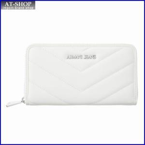 アルマーニジーンズ ARMANI JEANS 928032 7P771 41610 ラウンドファスナー長財布 OFFWHITE|at-shop