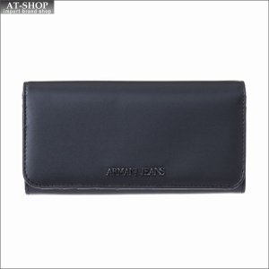 アルマーニジーンズ ARMANI JEANS 二つ折り長財布 928041 7P757 00020 ブラック at-shop