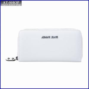 アルマーニジーンズ ARMANI JEANS 928088 7P757 00010 WHITE ラウンドファスナー長財布|at-shop