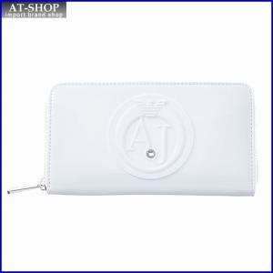 アルマーニジーンズ ARMANI JEANS 928532 CC855 00010 WHITE ラウンドファスナー長財布|at-shop