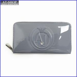 アルマーニジーンズ ARMANI JEANS 928532 CC855 00143 grigio ラウンドファスナー長財布|at-shop