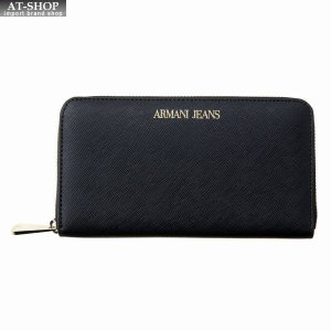 アルマーニジーンズ ARMANI JEANS ラウンドファスナー長財布 928532 CD857 00020 BLACK ブラック at-shop