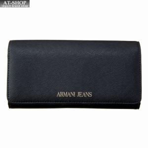 アルマーニジーンズ ARMANI JEANS 二つ折り長財布 928541 CD857 00020 BLACK ブラック at-shop