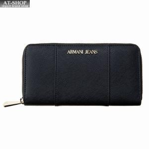 アルマーニジーンズ ARMANI JEANS ラウンドファスナー長財布 928588 CD857 00020 BLACK ブラック at-shop