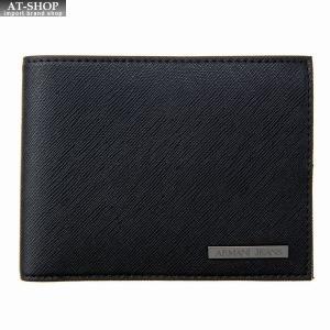 アルマーニジーンズ ARMANI JEANS 二つ折り財布 938538 CD991 00020 BLACKブラック at-shop