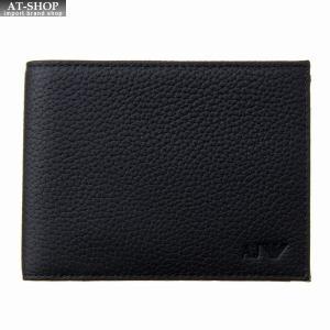 アルマーニジーンズ ARMANI JEANS 二つ折り財布 938538 CD992 00020 BLACKブラック|at-shop