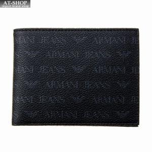 アルマーニジーンズ ARMANI JEANS 二つ折り財布 938538 CD996 00020 BLACK ブラック|at-shop