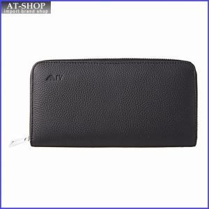 アルマーニジーンズ ARMANI JEANS 938542 CC992 00020 NERO/BLACK ラウンドファスナー長財布|at-shop
