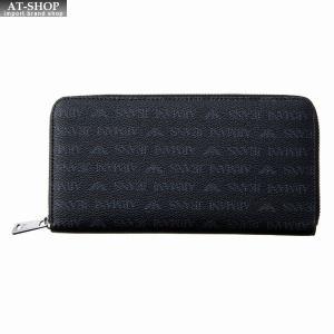 アルマーニジーンズ ARMANI JEANS ラウンドファスナー長財布 938542 CD996 00020 BLACK ブラック at-shop