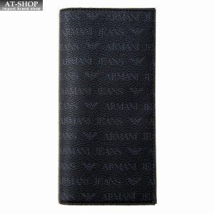 アルマーニジーンズ ARMANI JEANS 二つ折り長財布 938543 CD996 00020 BLACK ブラック at-shop