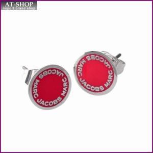 マークジェイコブス MARC JACOBS M0008544-650 Pink ロゴ ディスク エナメル スタッド ピアス Logo Disc Enamel Studs|at-shop