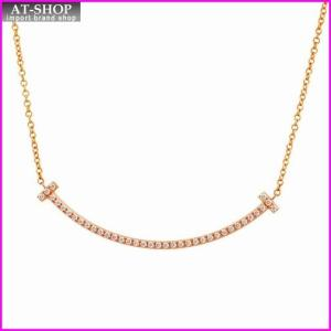 ティファニー TIFFANY&CO 34684421 Tiffany T スマイル ダイアモンド ペンダント ミニ 0.01ct 18KRG ネックレス at-shop