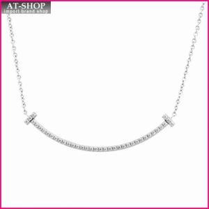 ティファニー TIFFANY&CO 34684448 Tiffany T スマイル ダイアモンド ペンダント ミニ 0.01ct 18KWG ネックレス at-shop