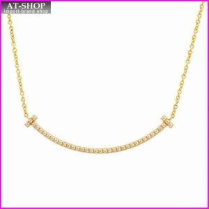ティファニー TIFFANY&CO 34684456 Tiffany T スマイル ダイアモンド ペンダント ミニ 0.01ct 18KYG ネックレス at-shop