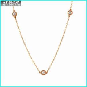 ティファニー TIFFANY&CO 27953948 エルサ・ペレッティ ダイヤモンド バイ ザ ヤード ペンダント ネックレス18KRG 0.21ct 41cm|at-shop