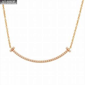 ティファニー TIFFANY&CO 63058823 Tiffany T スマイル ミニ ペンダント ネックレス 18KRG×ダイアモンド 41cm〜46cm at-shop