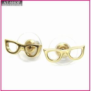 ケイトスペード ピアス  WBRUA526-711  メガネモチーフ スタッド ピアス|at-shop