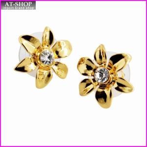 ケイトスペード Kate Spade WBRUC406-921 Clear/Gold Lovely Lillies Mini Flower Studs フラワーモチーフ スタッド ピアス at-shop