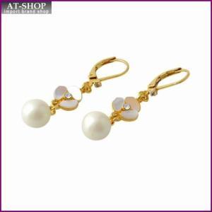 ケイトスペード Kate Spade WBRUC972-143 Cream Multi DISCO PANSY drop leverback earrings パンジーモチーフ&パール ドロップ ピアス at-shop