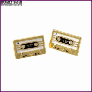 ケイトスペード Kate Spade WBRUD109-974 Multi JAZZ THINGS UP cassette studs カセットテープモチーフ スタッド ピアス at-shop