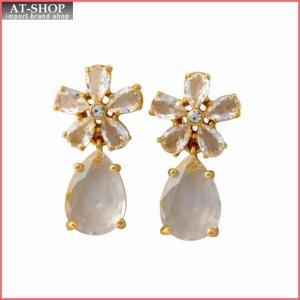 ケイトスペード Kate Spade WBRUD465-921 Clear/Gold MIDNIGHT GARDEN drop earrings フラワーモチーフ クリスタル ドロップ ピアス at-shop