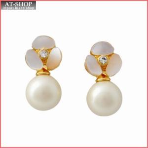 ケイトスペード Kate Spade WBRUD515-143 Cream Multi DISCO PANSY pearl drop studs パンジーモチーフ&パール ドロップ スタッド ピアス at-shop