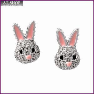 ケイトスペード Kate Spade WBRUD589-922 clear/silver MAKE MAGIC rabbit studs ウサギモチーフ クリスタルパヴェ スタッド ピアス at-shop