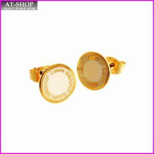 マークジェイコブス MARC JACOBS M0008544-106 Cream ロゴ ディスク エナメル スタッド ピアス Logo Disc Enamel Studs at-shop