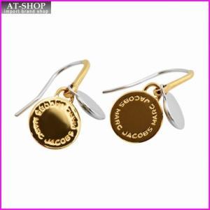 マークジェイコブス MARC JACOBS M0008536-716 Oro Multi Mixed Metal Logo Disc Earrings ロゴ ディスク ミックス メタル ピアス|at-shop