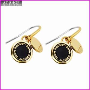 マークジェイコブス MARC JACOBS M0008541-062 Black/Oro Enamel Logo Disc Earrings ロゴ ディスク エナメル ピアス|at-shop