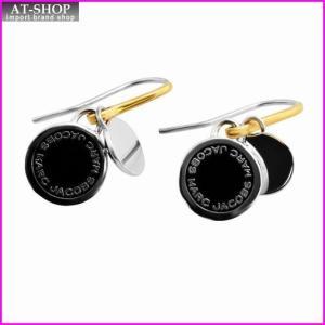 マークジェイコブス MARC JACOBS M0008541-068 Black/Argento Enamel Logo Disc Earrings ロゴ ディスク エナメル ピアス|at-shop