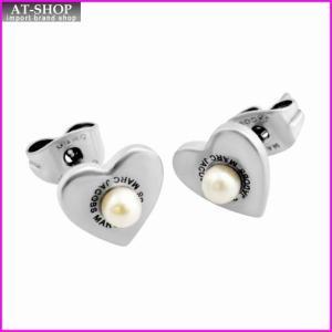 マークジェイコブス MARC JACOBS M0008660-066 Antique Silver Hearts Studs ロゴ パール ハート スタッド ピアス|at-shop