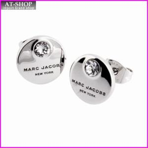 マークジェイコブス MARC JACOBS M0009098-169 Crystal/Silver MJ Coin Studs  コイン クリスタル スタッド ピアス|at-shop
