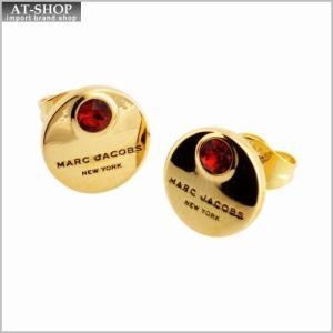 マークジェイコブス MARC JACOBS M0009098-646 Red/Gold MJ Coin Studs コイン クリスタル スタッド ピアス|at-shop