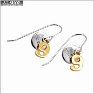 マークジェイコブス MARC JACOBS M0009101-040 Silver MJ Coin #9 Drop Earrings コイン ナンバー9 クリスタル フック ピアス|at-shop