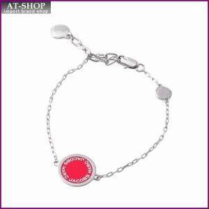 マークジェイコブス MARC JACOBS M0008540-650 Pink ロゴ ディスク エナメル ブレスレット Logo Disc Enamel Bracelet at-shop