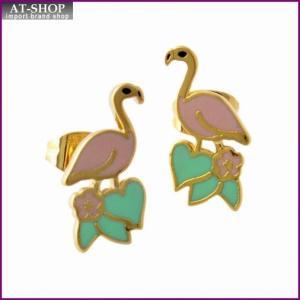 マークジェイコブス MARC JACOBS M0010634-651 Pink Multi フラミンゴモチーフ スタッド ピアス 鳥バード Charms Paradise Flamingo Studs|at-shop