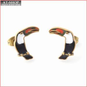 マークジェイコブス MARC JACOBS M0010471-002 Black Multi  Charms Paradise Parrot Studs オウムモチーフ スタッド ピアス 鳥バード|at-shop