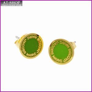 マークジェイコブス MARC JACOBS M0008544-300 Green ロゴ ディスク エナメル スタッド ピアス Logo Disc Enamel Studs|at-shop