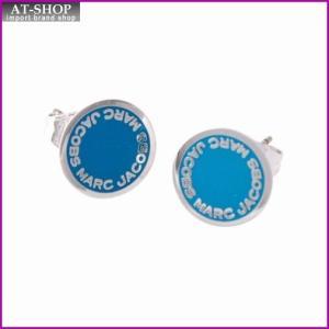 マークジェイコブス MARC JACOBS M0008544-400 Blue ロゴ ディスク エナメル スタッド ピアス Logo Disc Enamel Studs|at-shop