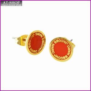 マークジェイコブス MARC JACOBS M0008544-600 Red ロゴ ディスク エナメル スタッド ピアス Logo Disc Enamel Studs|at-shop