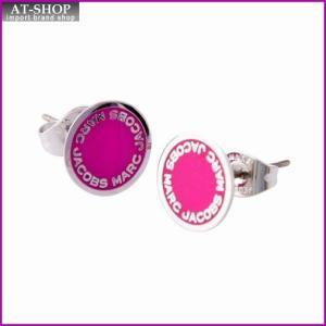 マークジェイコブス MARC JACOBS M0008544-655 Raspberry ロゴ ディスク エナメル スタッド ピアス Logo Disc Enamel Studs|at-shop