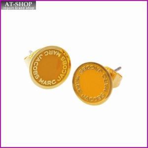 マークジェイコブス MARC JACOBS M0008544-700 Yellow ロゴ ディスク エナメル スタッド ピアス Logo Disc Enamel Studs|at-shop