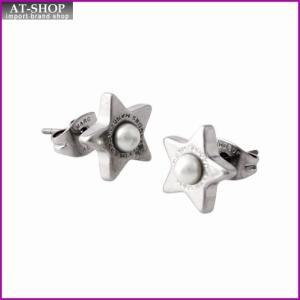 マークジェイコブス MARC JACOBS M0009237-118 Cream/Antique Silver ロゴ パール スター 星モチーフ スタッド ピアス  Charms Flat Pearl Star Studs|at-shop